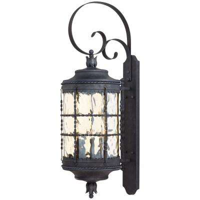 Mallorca 5-Light Spanish Iron Outdoor Wall Lantern Sconce