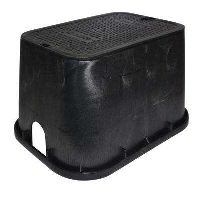 14 in. x 19 in. Standard Valve Box and Bolt-Down Cover - Water