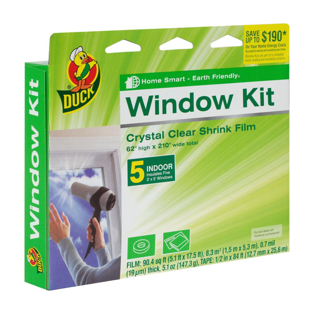62 in. x 210 in. Crystal Clear Window Shrink Film Kit