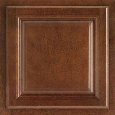 12-7/8x13 in. Cabinet Door Sample in Portland Cherry Spice