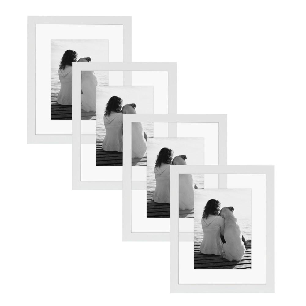 Gallery 8x10 Float White Picture Frame (Set of 4)