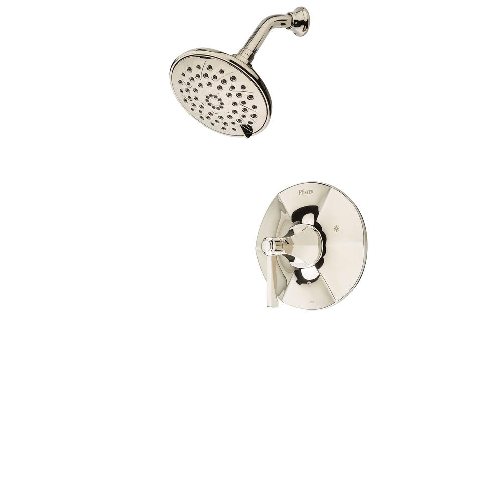 Pfister Arterra 3-Spray 1-Handle Shower Only Trim in Polished Nickel (Valve Not Included) Pfister Arterra 3-Spray 1-Handle Shower Only Trim in Polished Nickel (Valve Not Included) Size: 8.4 In..