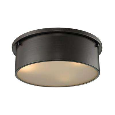 Simpson 3-Light Oil Rubbed Bronze Flush Mount