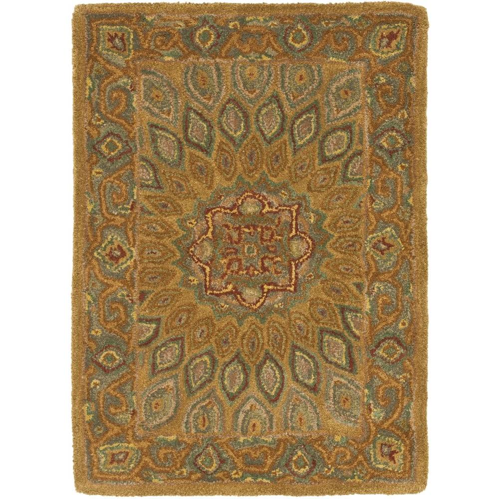 Heritage Light Brown/Grey 3 ft. x 5 ft. Area Rug