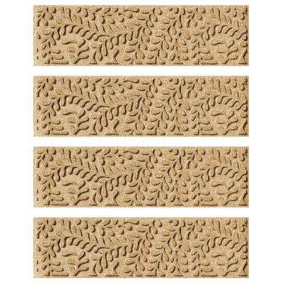 Gold 8.5 in. x 30 in. Boxwood Stair Tread Cover (Set of 4)