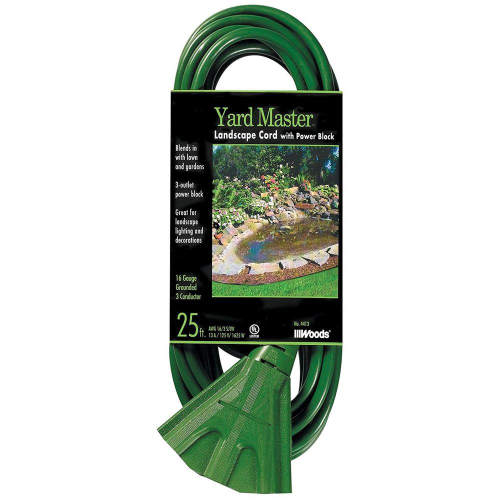 Southwire 25 ft. 16/3 SJTW Tri-Source (Multi-Outlet) Yard Master Outdoor Extension Cord