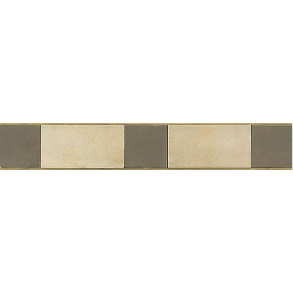 Daltile Veranda Multicolor 3-1/4 in. x 20 in. Deco C Porcelain Accent Floor and Wall Tile (14.33 sq. ft. / piece)
