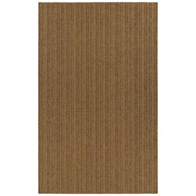 Amaya Burnt Umber 10 ft. x 14 ft. Striped Indoor/Outdoor Area Rug