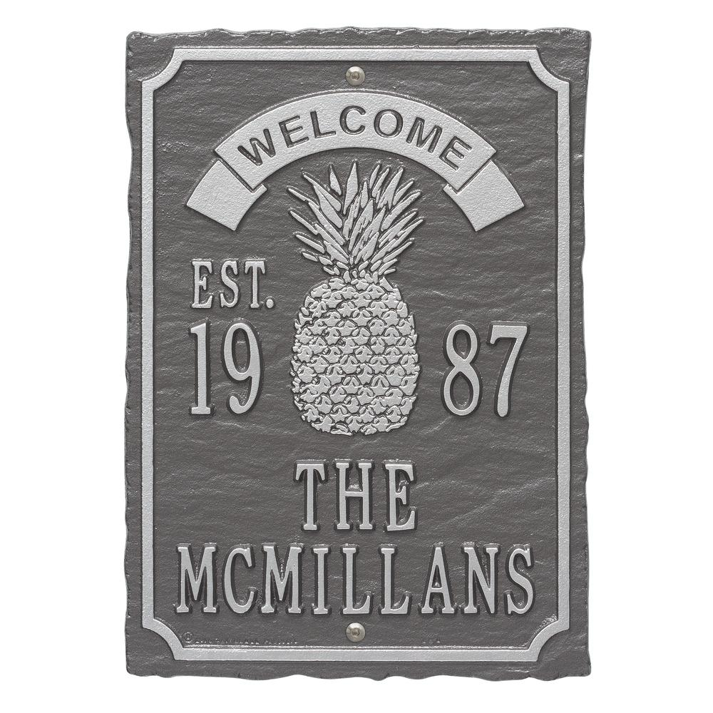 Antebellum Welcome Rectangular Standard Wall 3-Line Anniversary Personalized