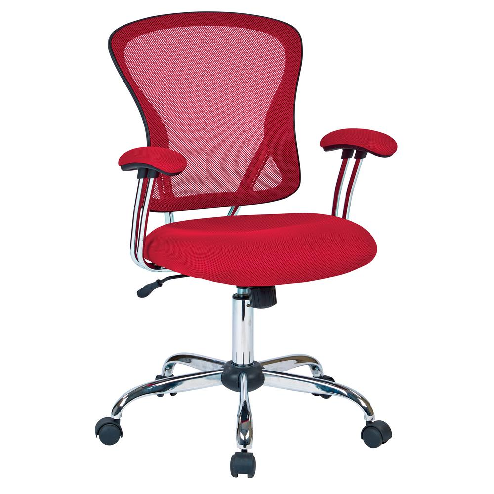 Superieur Ave Six Juliana Red Task Chair