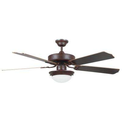 Heritage Fusion Series 52 in. Indoor Rubbed Bronze Ceiling Fan