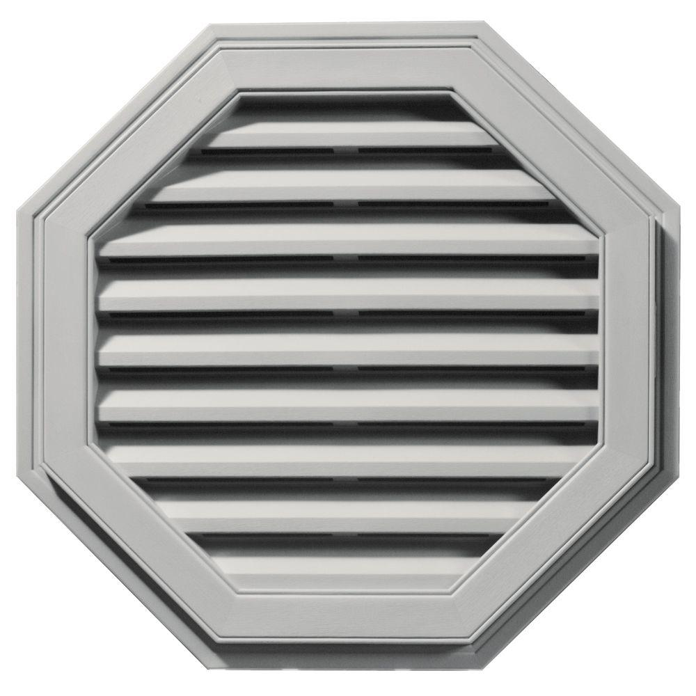 Builders Edge 27 in. Octagon Gable Vent #030 Paintable