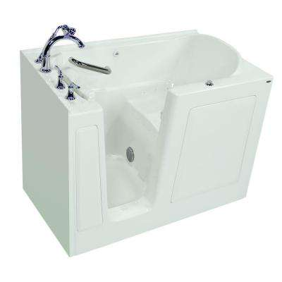 Exclusive Series 51 in. x 31 in. Left Hand Walk-In Air Bath Tub with Quick Drain in White