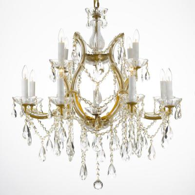 Maria Theresa 13-Light Gold Crystal Chandelier