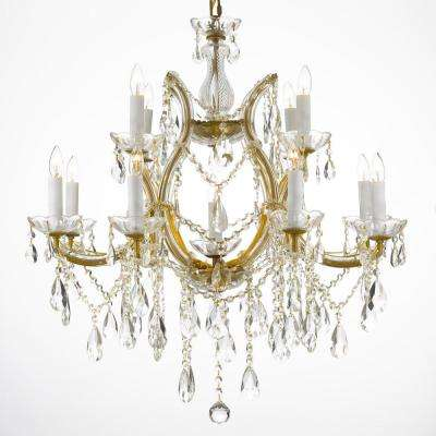 unique chandelier lighting. Maria Theresa 13-Light Gold Crystal Chandelier Unique Lighting