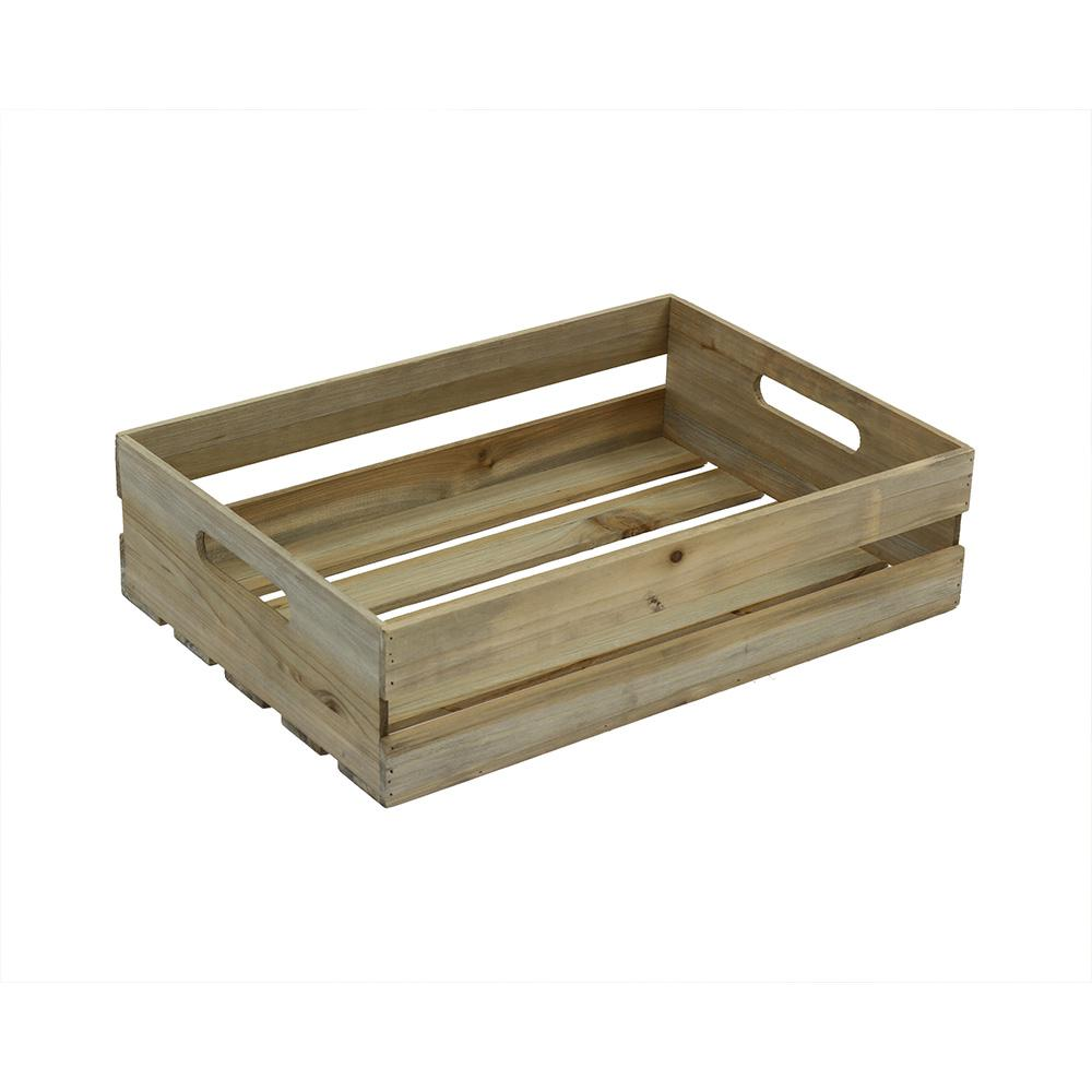 Crates pallet 18 in x 12 5 in x in half crate for Where to buy old crates