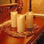 LumaCandle 7 in. H Amber LED Action Resin Candle