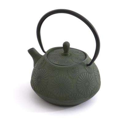 Cast Iron 1.2 Qt. Dark Green Teapot