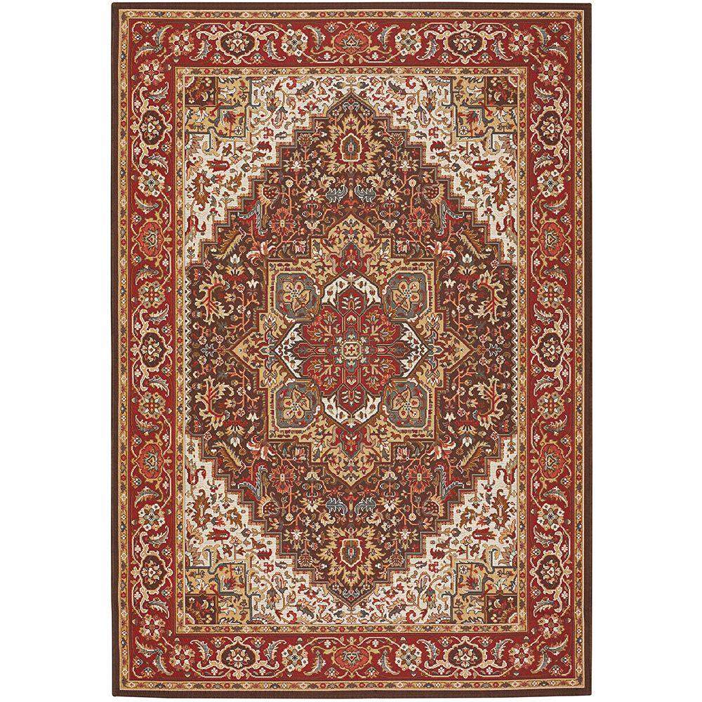Home decorators collection picardy red 5 ft 3 in x 7 ft for Home decorators jules rug