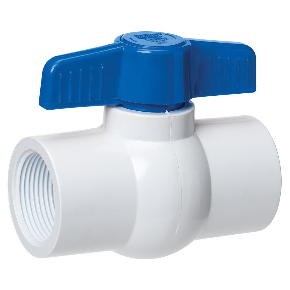 "PVC Ball Valve Water Supply Pipe Threaded Ends 3//4/"" Inner Hole Diameter Red Gray"