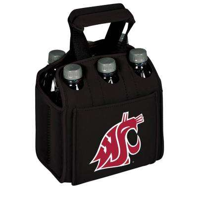 Washington State University Cougars 6-Bottles Black Beverage Carrier