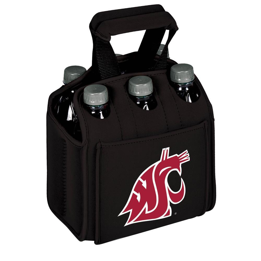 Washington State University Cougars 6-Bottles Black Beverage Carrier