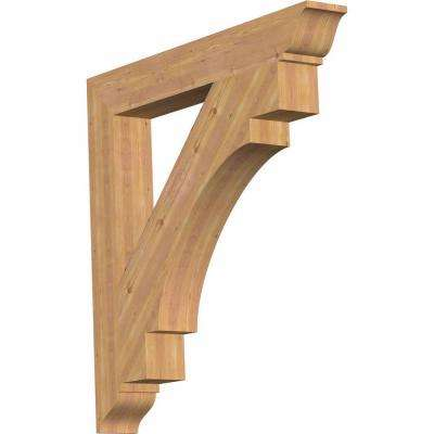 5.5 in. x 44 in. x 44 in. Western Red Cedar Merced Traditional Smooth Bracket