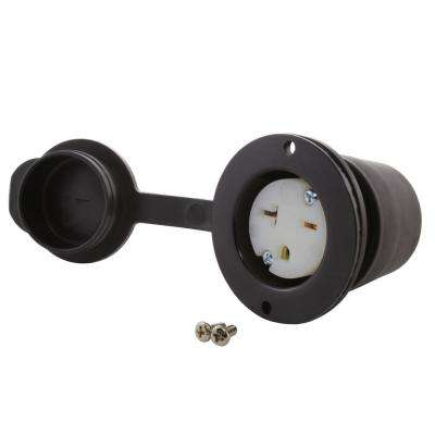 20 Amp 250-Volt NEMA 6-20R Flanged Mounting HVAC/ Power Tools Outlet Receptacle with Cover