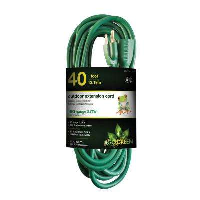 40 ft. 16/3 Heavy Duty Extension Cord, Green