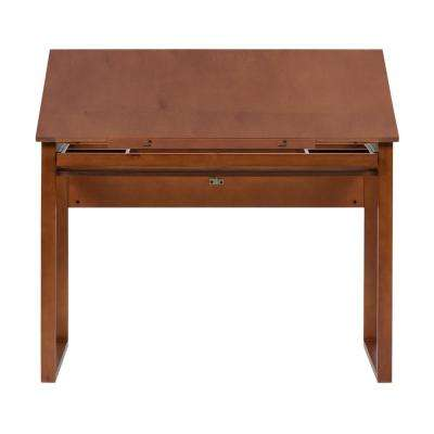 Ponderosa 42 in. W Angle Adjustable Craft, Drawing, Drafting Wood Table with 31 in. Storage Drawer