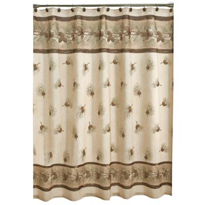 70 in. Pinehaven Fabric Shower Curtain