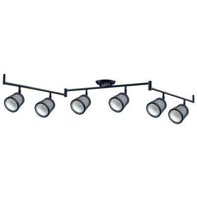 Baltimore 47.2 in. 6-Lights Black and Pewter Track Lighting Kit