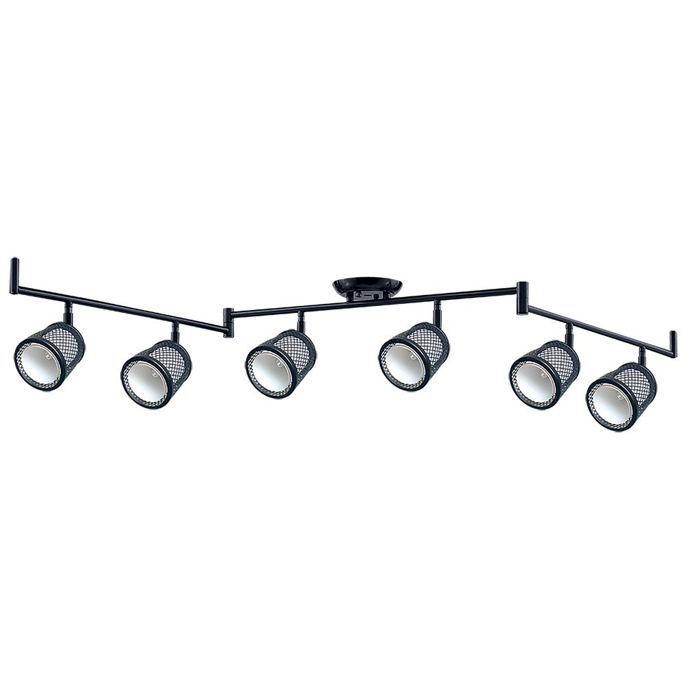 Beldi Baltimore 47 2 In 6 Lights Black And Pewter Track Lighting Kit