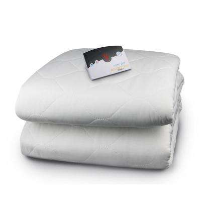 5200 Series White Full Quilted Skirt Mattress Pad