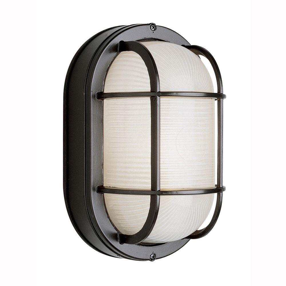 Bel Air Lighting Energy Saving Bulkhead Outdoor White Wall or Ceiling Fixture