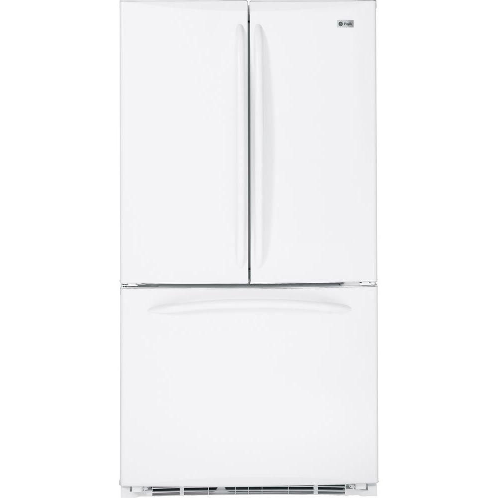 GE Profile 20.7 cu. ft. French Door Refrigerator in White, Counter Depth