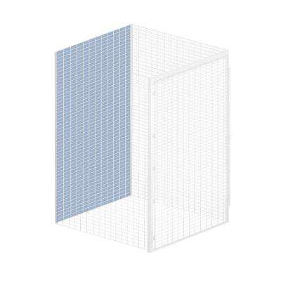 Storage Locker Option 48 in. W x 0.5 in. D x 90 in. H Back Bulk Storage Locker with Back Option in Aluminum