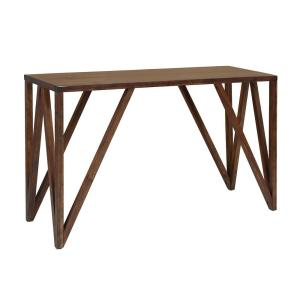+5. Foremost Bali Old World Chestnut Console Table
