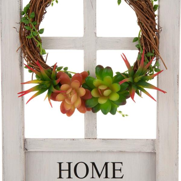Glitzhome 42 H Wooden Vertical Spring Porch Sign Porch Sign Hanging Signs Spring Decorations for Front Door Wall Display