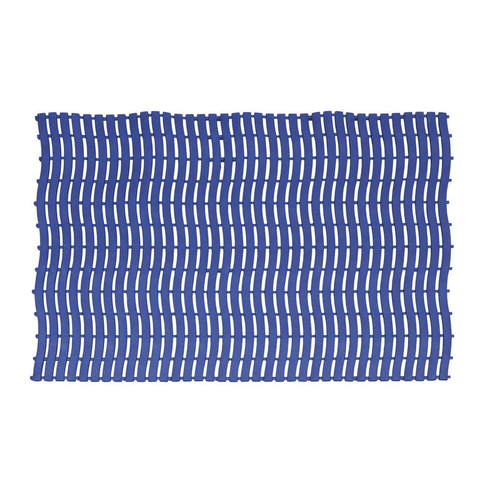 Navy Blue 22.8 in. x 35.9 ft. PEVA Vinyl Commercial or Residential Runner