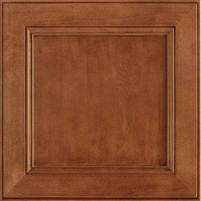 14-9/16 x 14-1/2 in. Cabinet Door Sample in MacArthur Maple Cognac