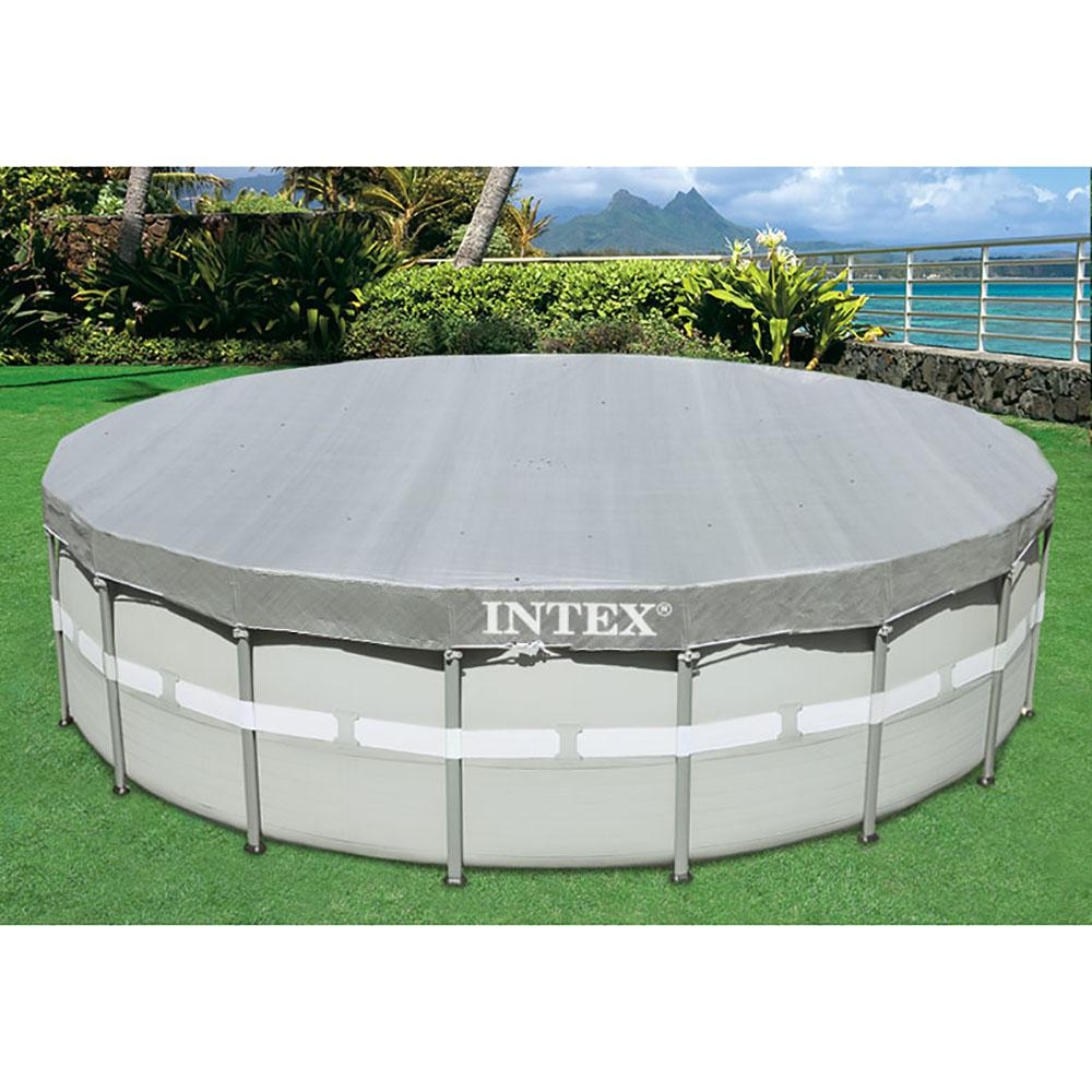 Intex 18 ft. x 18 ft. Round Above Ground UV Resistant Deluxe Debris Cover  for 18 ft. Ultra Frame Swimming Pools