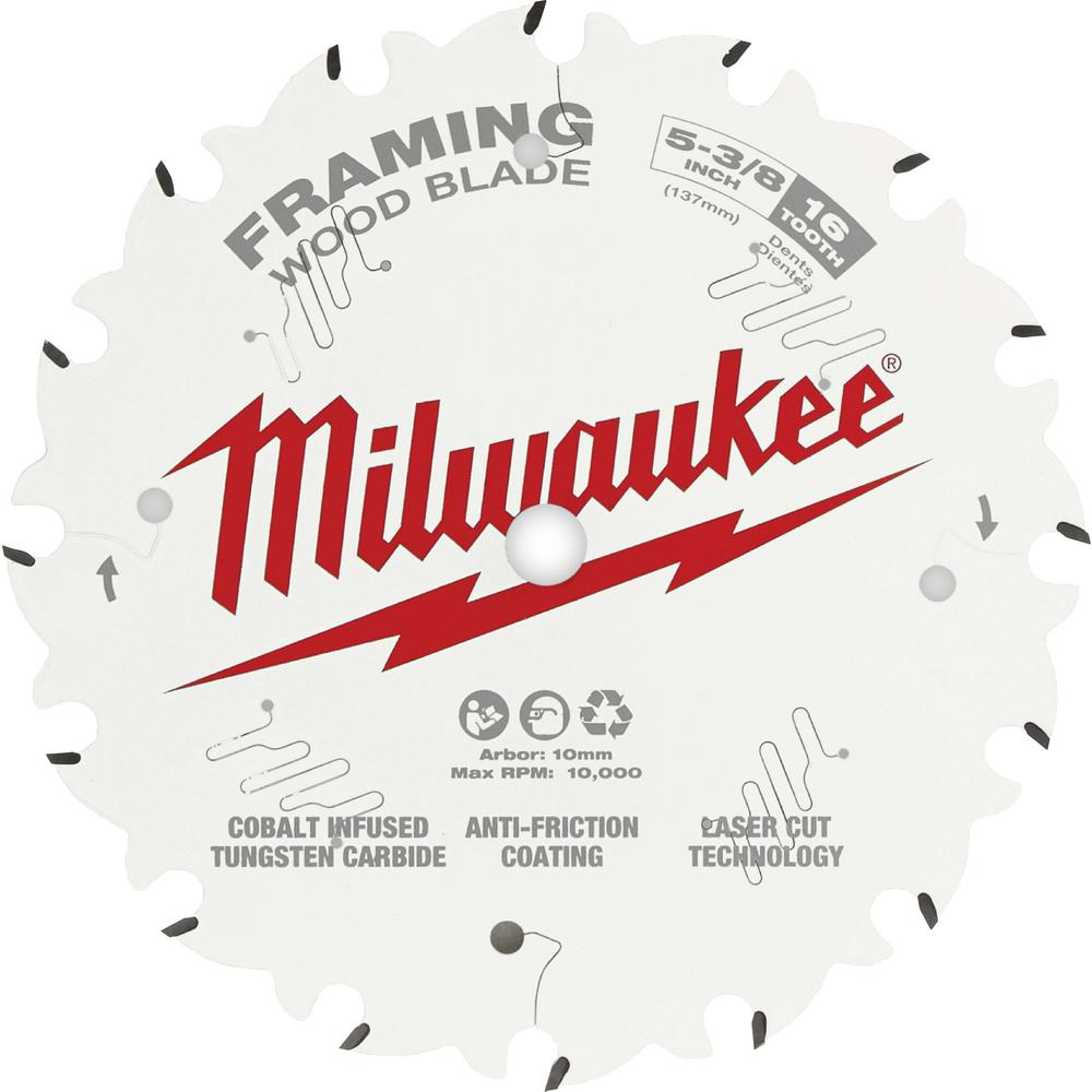 Milwaukee 5-3/8 in. x 16-Tooth Framing Circular Saw Blade
