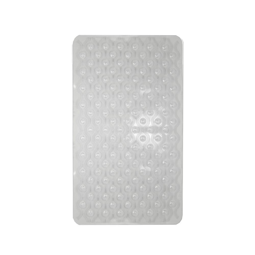 15.50 in. x 27.25 in. Bubble Wave Bath Mat