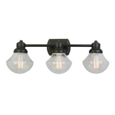 Sawyer 3-Light Oil Rubbed Bronze Bath Light