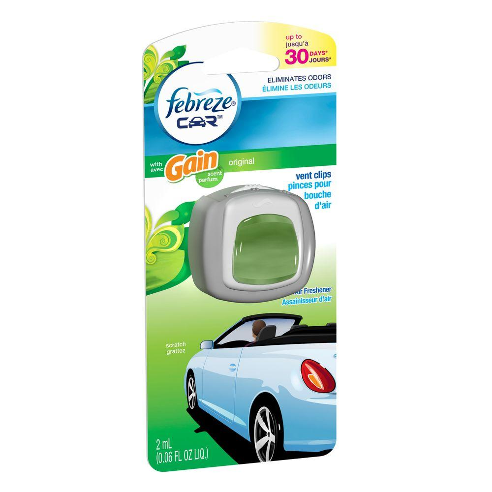 Car odors tend to overstay their welcome—like last night's carryout, this morning's gym clothes, or last weekend's trip to the dog park. Febreze Car Vent Clips send odors packing and add a .