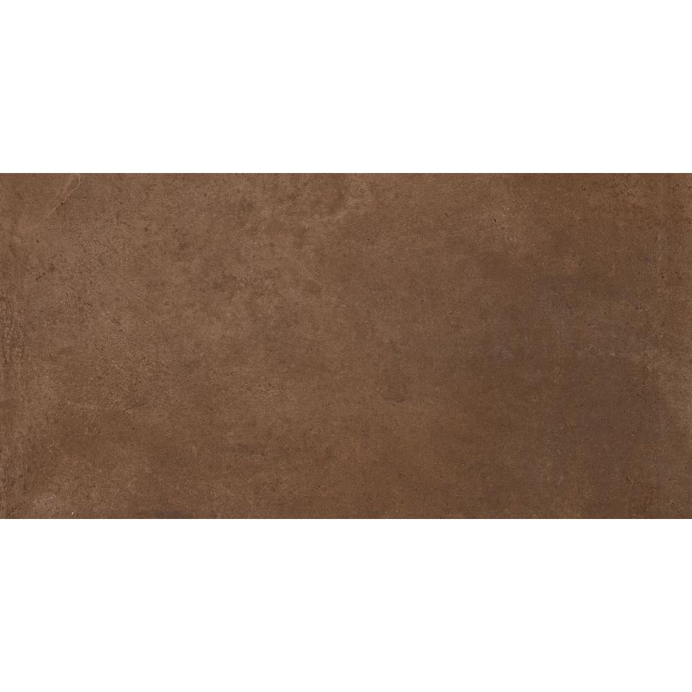 Cotto Bruno 12 in. x 24 in. Glazed Porcelain Floor and
