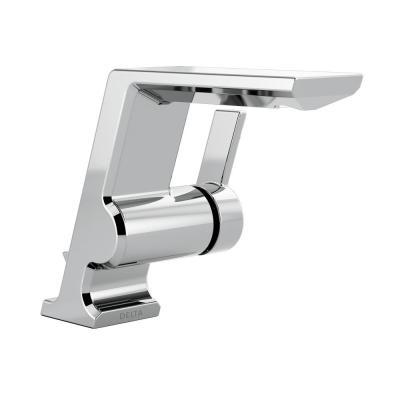 Pivotal Single Hole Single-Handle Bathroom Faucet with Metal Drain Assembly in Chrome