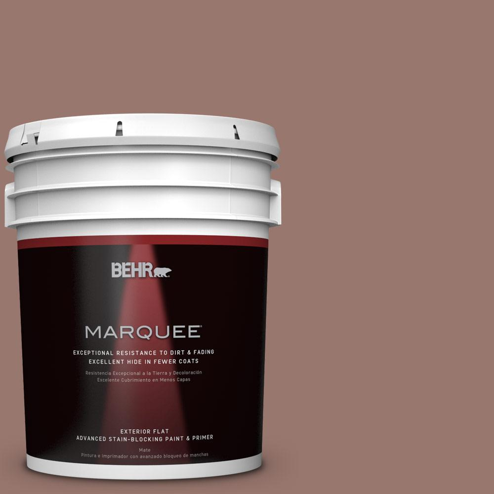 BEHR MARQUEE 5-gal. #N160-5 Chocolate Delight Flat Exterior Paint