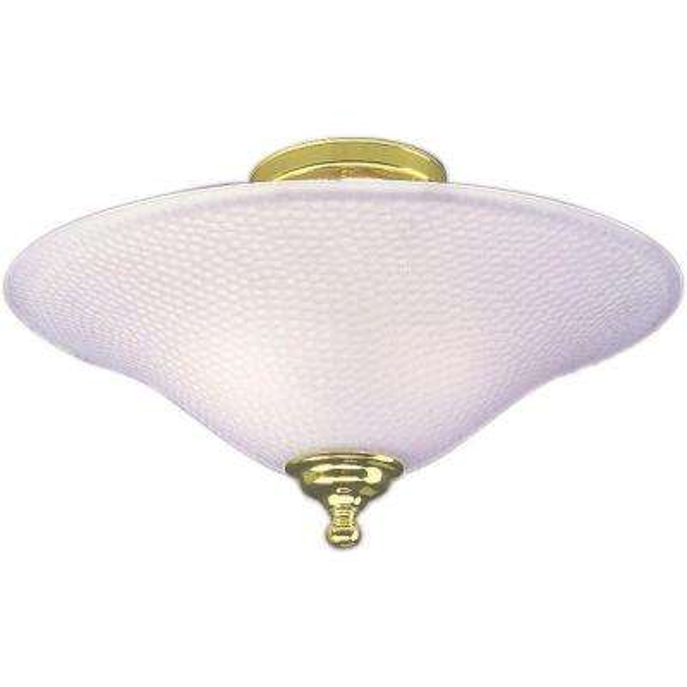 2-Light Polished Brass Semi-Flush Mount
